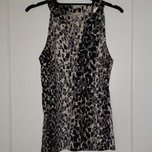BR Animal Print Racerback Blouse